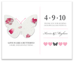 plantable paper favor flat card for baby shower, bridal shower, wedding, or special event.