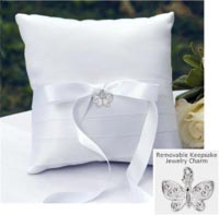 butterfly charm collection set - ring pillow