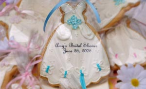 Custom-Designed Butterfly Wedding Dress Cookies