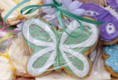 butterfly cookie favors cake favors wedding dress bridal shower favors