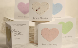 plantable heart favor seed favors for showers and weddings