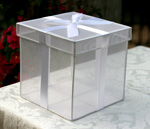 butterfly release organza clear box